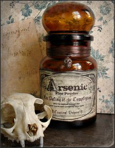 A vintage bottle of arsenic - perhaps similar to the one used by Sweeney!