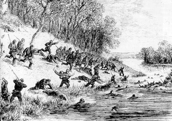 Sketch of the Battle of Ball's Bluff (October 21 1861.)