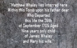 tombstone mattthew whaley
