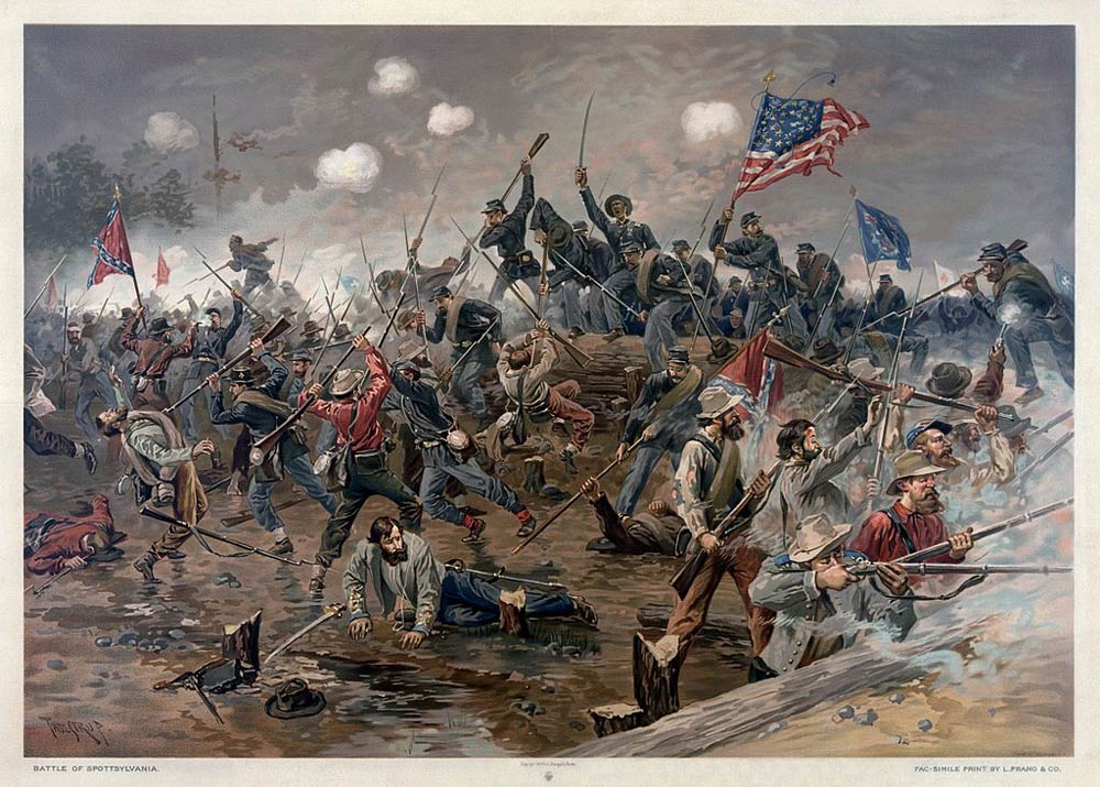 The bloody battle which occurred at the Spotsylvania Court House.