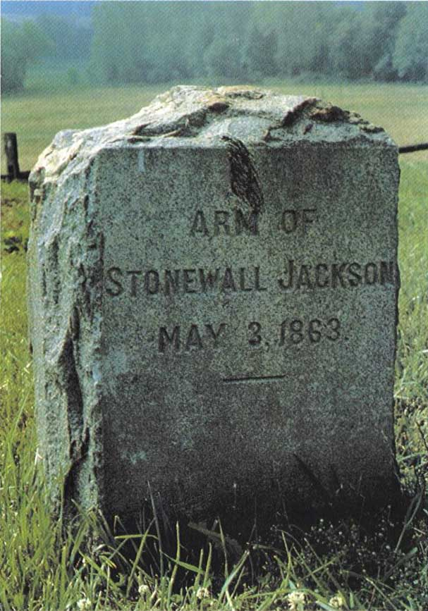 The grave of Jackson's arm, at Ellwood Manor.