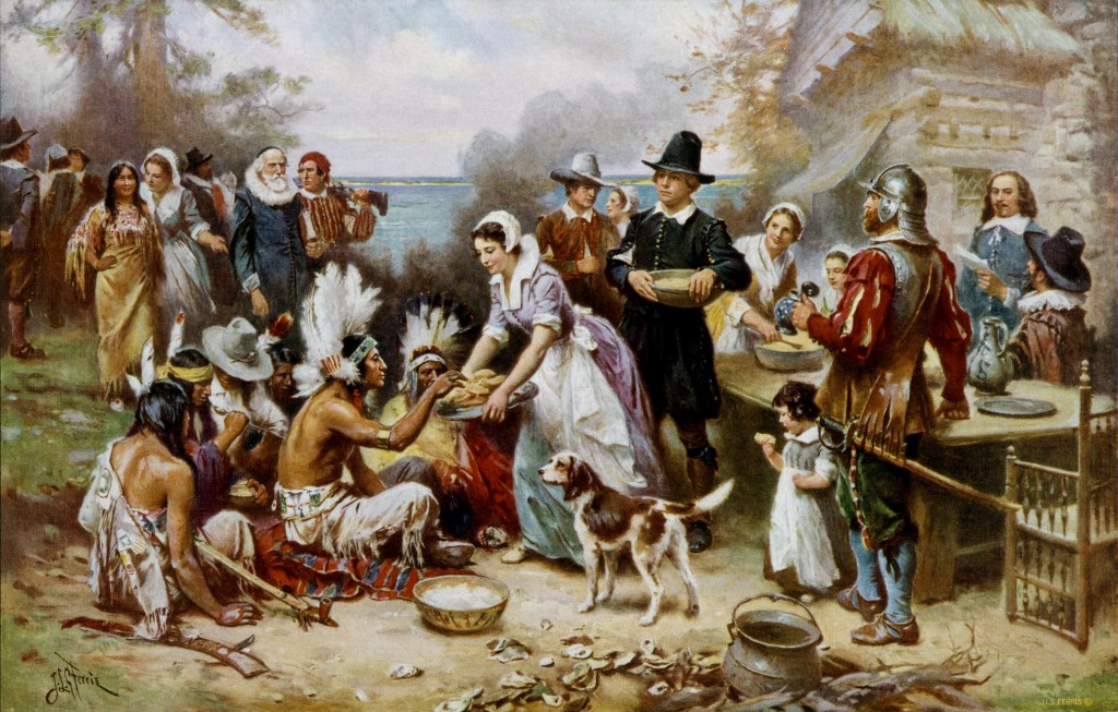 America's first Thanksgiving, 1621.