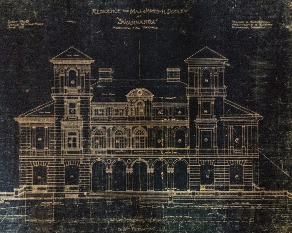 Blueprint of the palace.