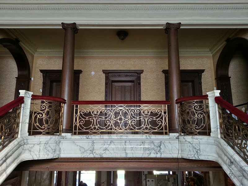 Swannanoa Palace's beautiful staircase.