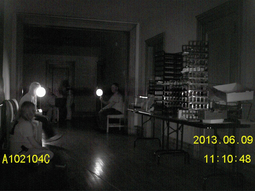Twisted Paranormal Society, conducting a flashlight session at the palace.