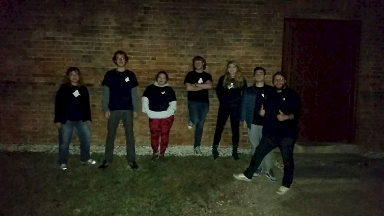 Colonial Ghost tour guides in front of the public gaol