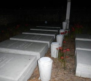Graves and a mysterious orb caught on camera during a Colonial Ghosts Tour