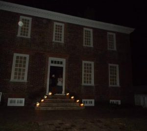 Some random glowing orbs caught near an old building in Colonial Williamsburg, Virginia