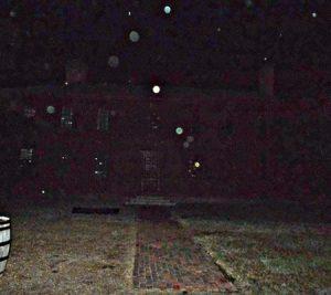 Orbs near an old house in Colonial Williamsburg, Virginia