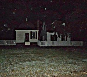 Strange orbs captured with a camera during a Colonial Ghosts tour in Williamsburg, Virginia
