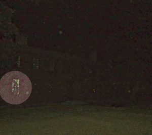 Strange shape caught on camera during a Colonial Ghost Tour in Williamsburg, Virginia