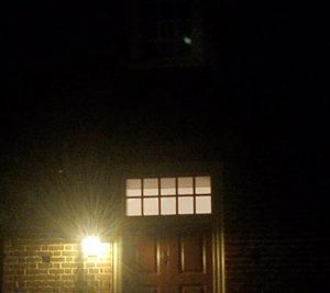 Orbs caught near a door in Colonial Williamsburg, Virginia