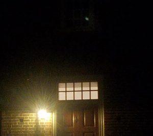 Spooky orbs in photo