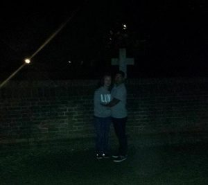 Something caught in a photo on a Ghost Tour