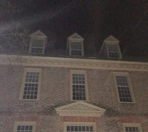 Ghostly pattern taken from photo on a Ghost Tour