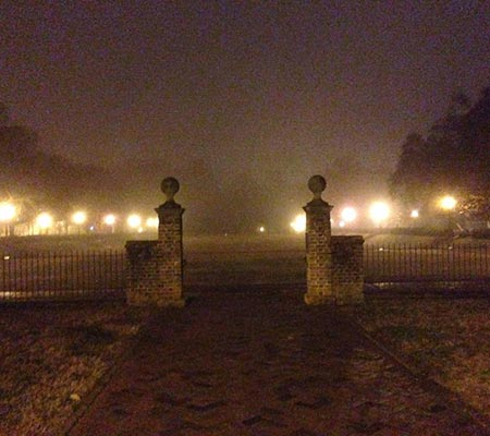 Spooky Gates at a Colonial Ghosts Tour