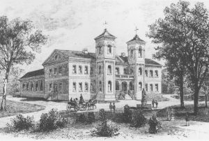 The Wren Building in 1859