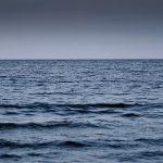 image shows an ocean horizon