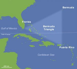 a map of the bermuda triangle is shown