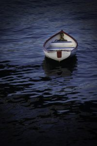 Empty boat in the water