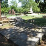 The cemetery at the Jamestown Church