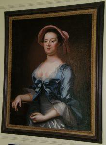Elizebeth Hill Carter Byrd portrait. One of Westover Plantation Ghosts