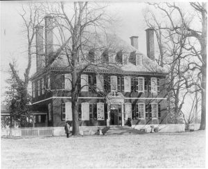 Photo of original Westover Plantation before additions and ghosts