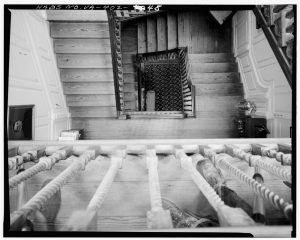View from above the stairwell in haunted Westover Plantaion house